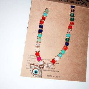Evil eye multicolor brazalet